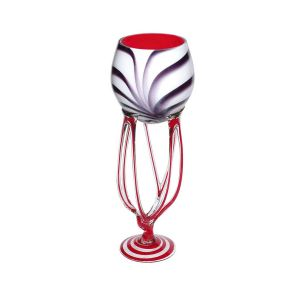 Jozefina 01057500.F63 20-inch Height Spider Glass Vase, EA