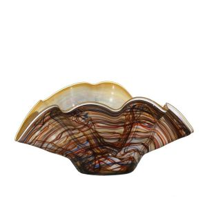 Jozefina 03055400.T62 16-inch Diameter Coco Glass Bowl, EA