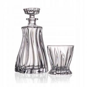 Aurum Crystal AU52115 7-Piece 1 Decanter + 6 Glasses Plantica Crystal Whiskey Decanter Set