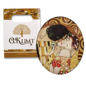 Carmani CR-013-0004 1.75x2.25-inch The Kiss Gustave Klimt Tea Cup With Magnet in the Bag, EA