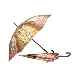 Carmani CR-021-6506 40x33-inch Family and Kiss Gustave Klimt Walking-Stick Umbrella, EA