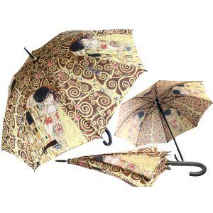 Carmani CR-021-6507 40x33-inch Tree and Kiss Gustave Klimt Walking-Stick Umbrella, EA