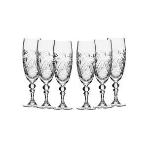 Neman Crystal 7 Oz. Lead Crystal Goblet Glass. Set of 6