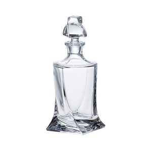 Crystalite A44/085 28 Oz. Lead Free Crystal Whiskey Decanter