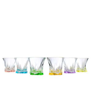 Aurum Crystal AU51765 11 Oz Cooper Colored Whiskey Glasses, 6/SET