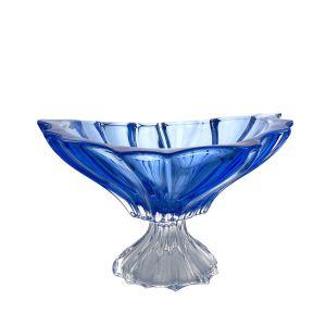 Aurum Crystal AU52048 13-inch Plantica Sprayed Blue Footed Bowl, EA