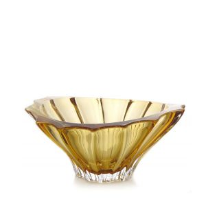 Aurum Crystal AU52290 8.8-inch Plantica Sprayed Amber Middle Bowl, EA