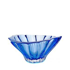 Aurum Crystal AU52291 8.8-inch Plantica Sprayed Blue Middle Bowl, EA