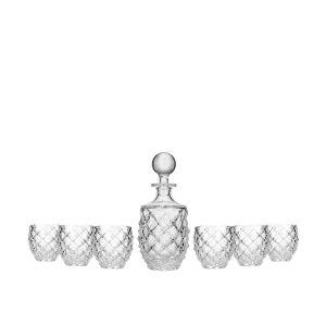 Aurum Crystal AU52297 7-Piece 1+6 Morris Whiskey Set
