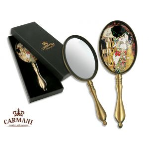 Carmani CR-013-0101 8x3-inch The Kiss Gustave Klimt Hand Mirror, EA