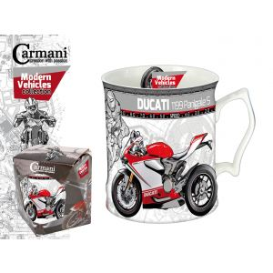 Carmani CR-016-5201, 19 Oz Mug Ducati Motorbike Big Tea & Coffee Mug, Porcelain Coffee Mug, EA