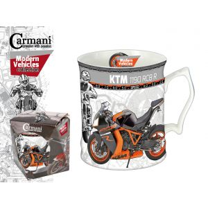 Carmani CR-016-5203, 19 Oz Mug KTM Motorbike Big Tea Mug, Porcelain Tea & Coffee Mug, EA