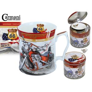 Carmani CR-016-6004, 16 Oz Mug in Metal Moneybox Honda Motorbike Big Tea Mug, EA