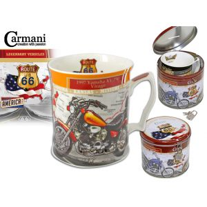Carmani CR-016-6009, 16 Oz Mug in Metal Moneybox YAMAHA Motorbike Big Tea Mug, EA