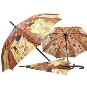 Carmani CR-021-6504 40x33-inch Adela and Kiss Gustave Klimt Walking-Stick Umbrella, EA