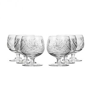 Neman Crystal 11 Oz. Lead Crystal Brandy Glass. Set of 6