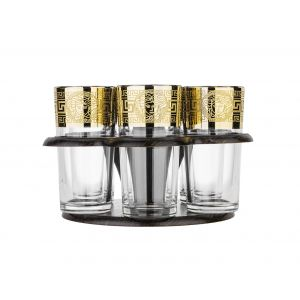 Versailles Bar Set 6 Highball Glasses with Stand