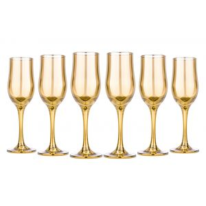 Honey 6.5-Ounce Champagne Flutes, Set of 6