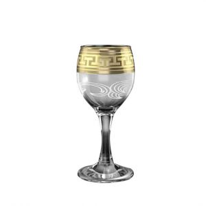 Crystal Goose 4.5'' Height Footed Shot Glasses. Set of 6