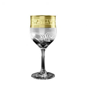 Crystal Goose 6.5'' Height Footed Wine Glasses. Set of 6